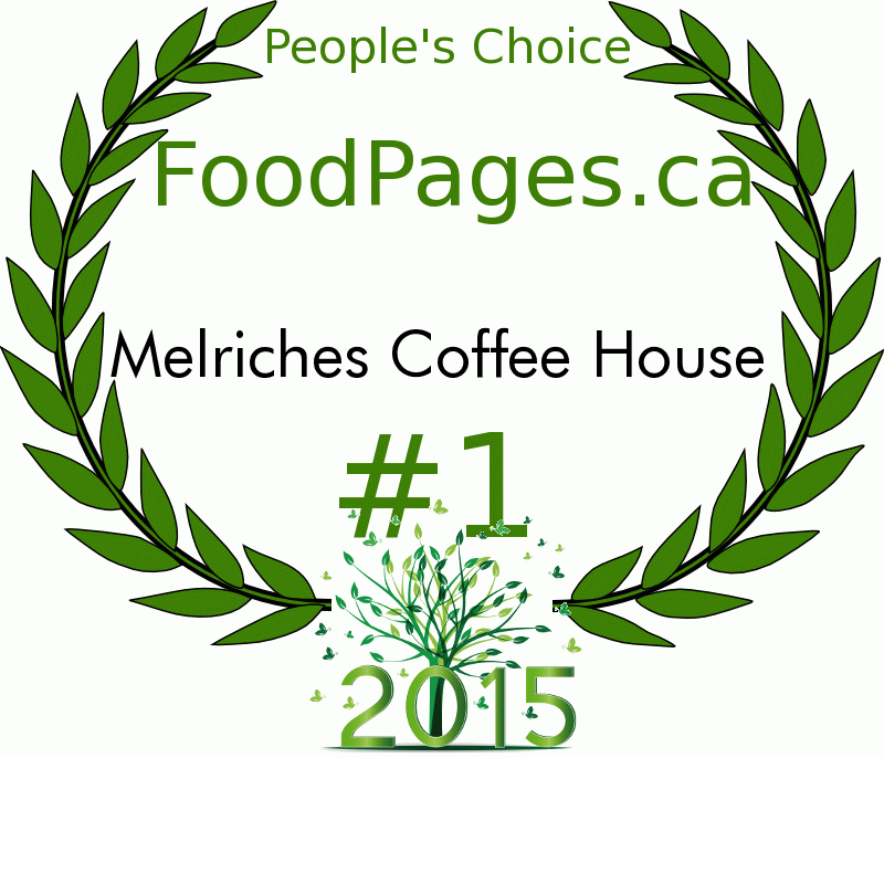Melriches Coffee House FoodPages.ca 2015 Award Winner