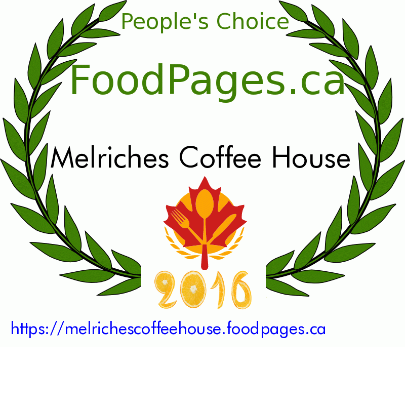 Melriches Coffee House FoodPages.ca 2016 Award Winner